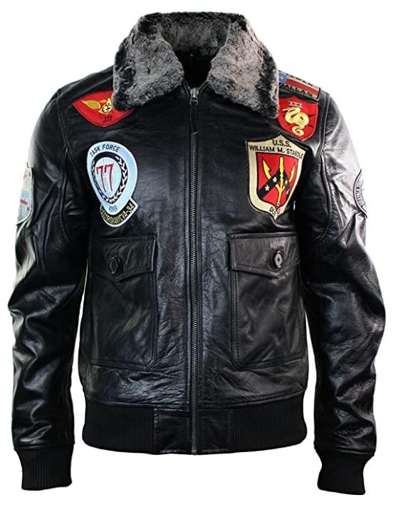 La giacca volo pilota militare US Navy giacche pelle piloti militari aviatore aviatori giubbotto giubbotti marina aeronautuca