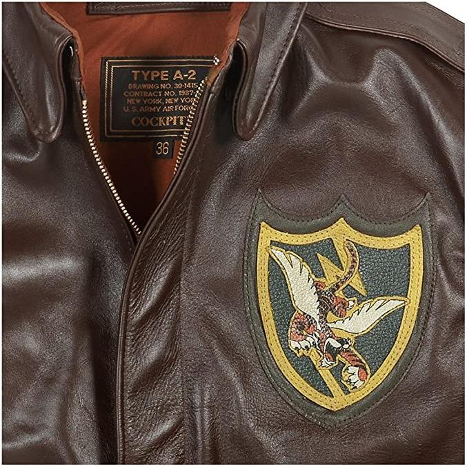 I giubbotti volo type a2 piloti americani Tigri Volanti giubbotto pilota militare aviatore aviatori giacca giacche pelle aeronautica