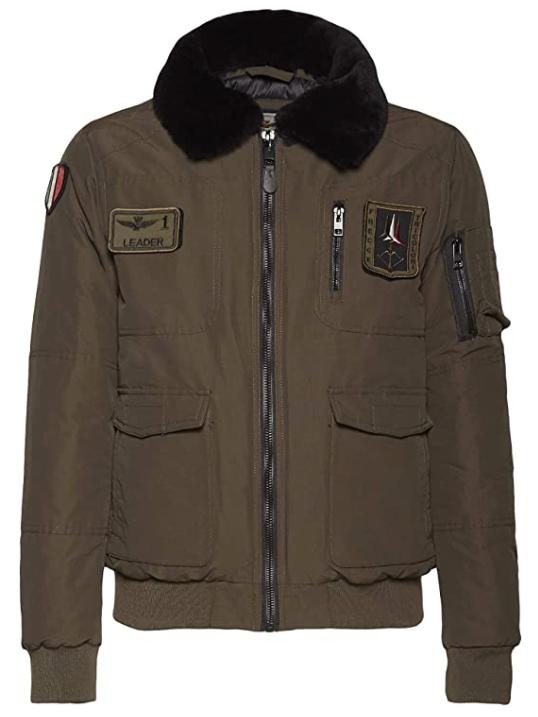 Il giubbotto di volo pilota FRECCE TRICOLORI Aeronautica Militare Italiani AMI piloti militari aviatori aviatore giacca giacche