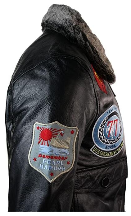 Il giubbotto pilota militare aeroplano Us Navy giubbotti piloti militari aviatore aviatori giacca pelle giacche